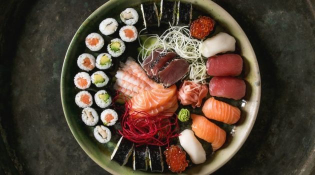 difference between sushi and shashimi